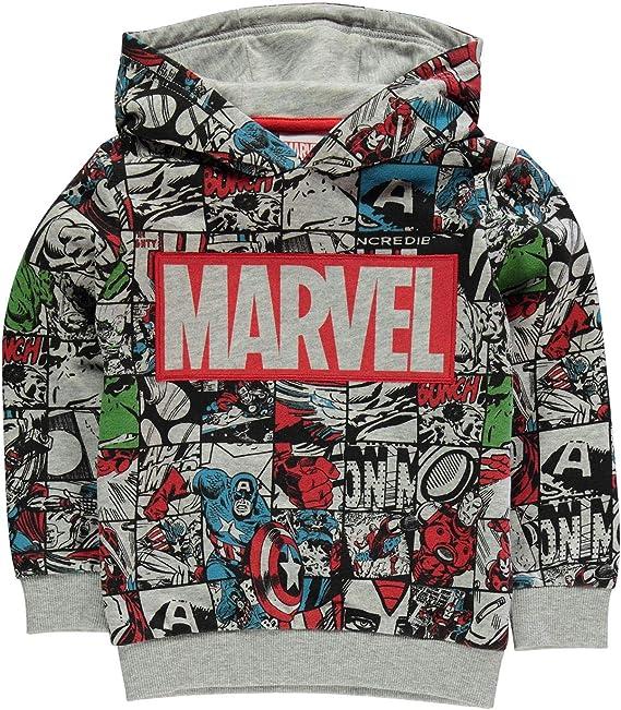 Marvel Comic Logo Hood Felpa con Cappuccio Donna
