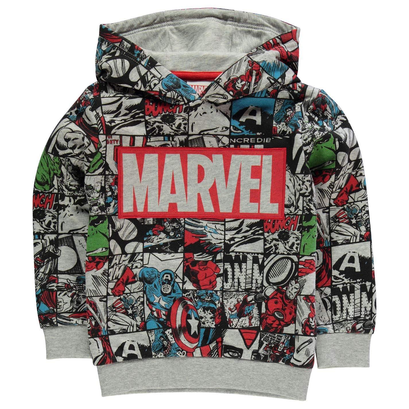 Marvel Comics Avengers Felpa con cappuccio disegnata, per bambini e ragazzi