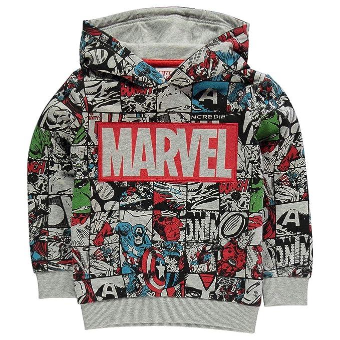 Marvel Comics Avengers - Sudadera con Capucha para niños, diseño de Personajes Gris Grey/Print 7-8 Años: Amazon.es: Ropa y accesorios