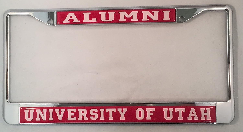 Utah Utes Domed Chrome License Plate Frame