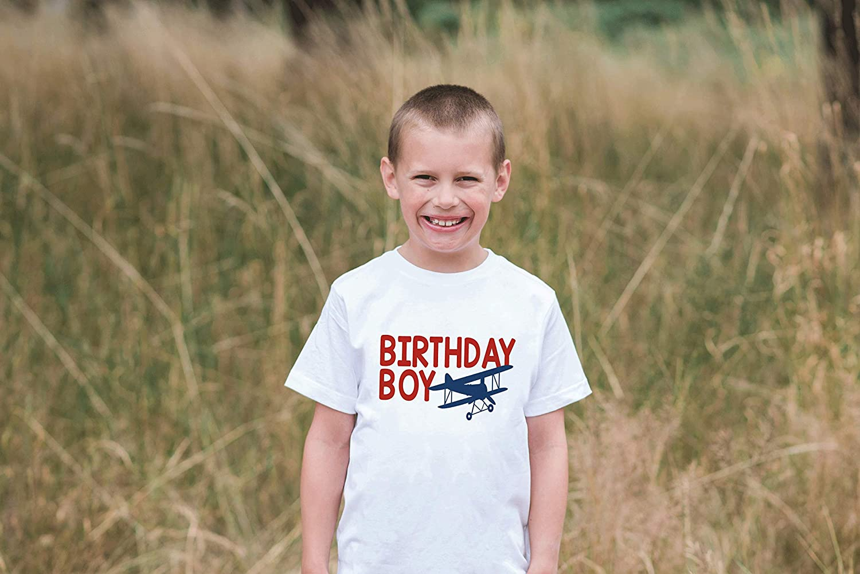 7 ate 9 Apparel Boys Birthday Boy Biplane Airplane T-Shirt