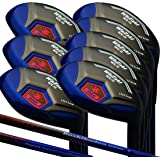 Japan WaZaki Black Oil Finish WL-IIs 4-SW Mx Steel Hybrid Irons Golf Club Set + Headcover