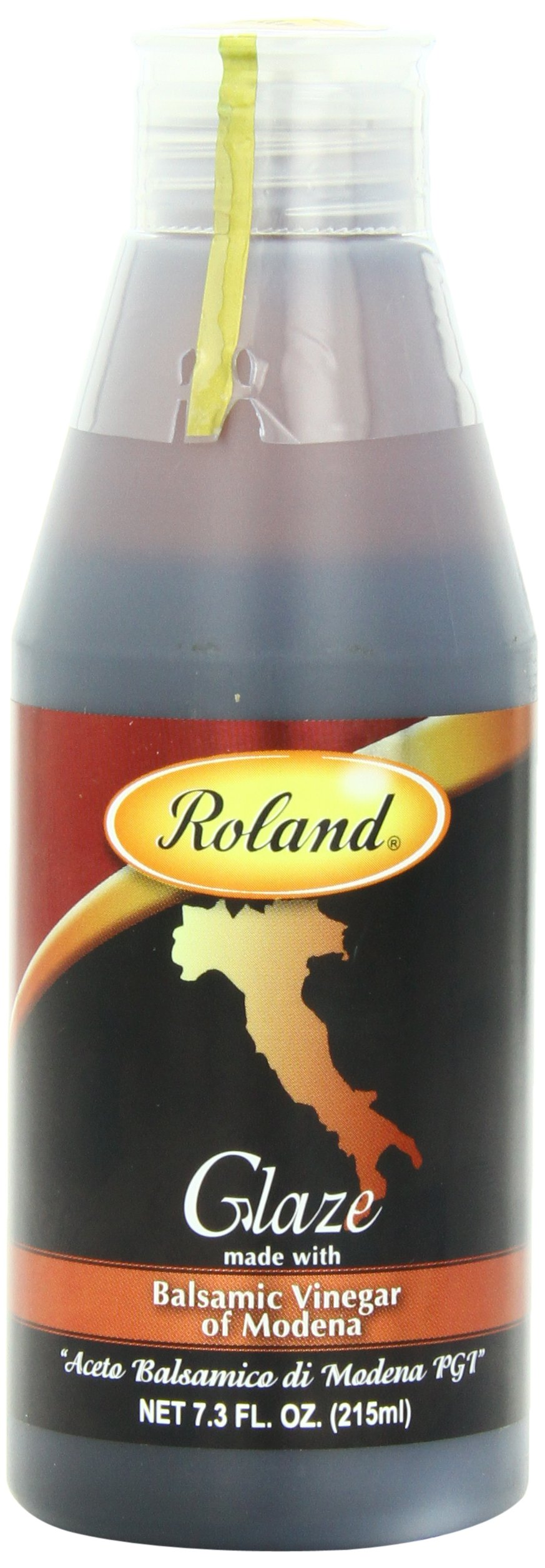Roland Foods Balsamic Glaze, 7.3 Ounce 1 Made from fine quality balsamic vinegar from Modena, it is slowly reduced to a nicely balanced thickened sauce Consistent in flavor, texture, and color, this glaze is a time saver for all chefs Use as a garnish, for entrees, and to create attractive plate designs