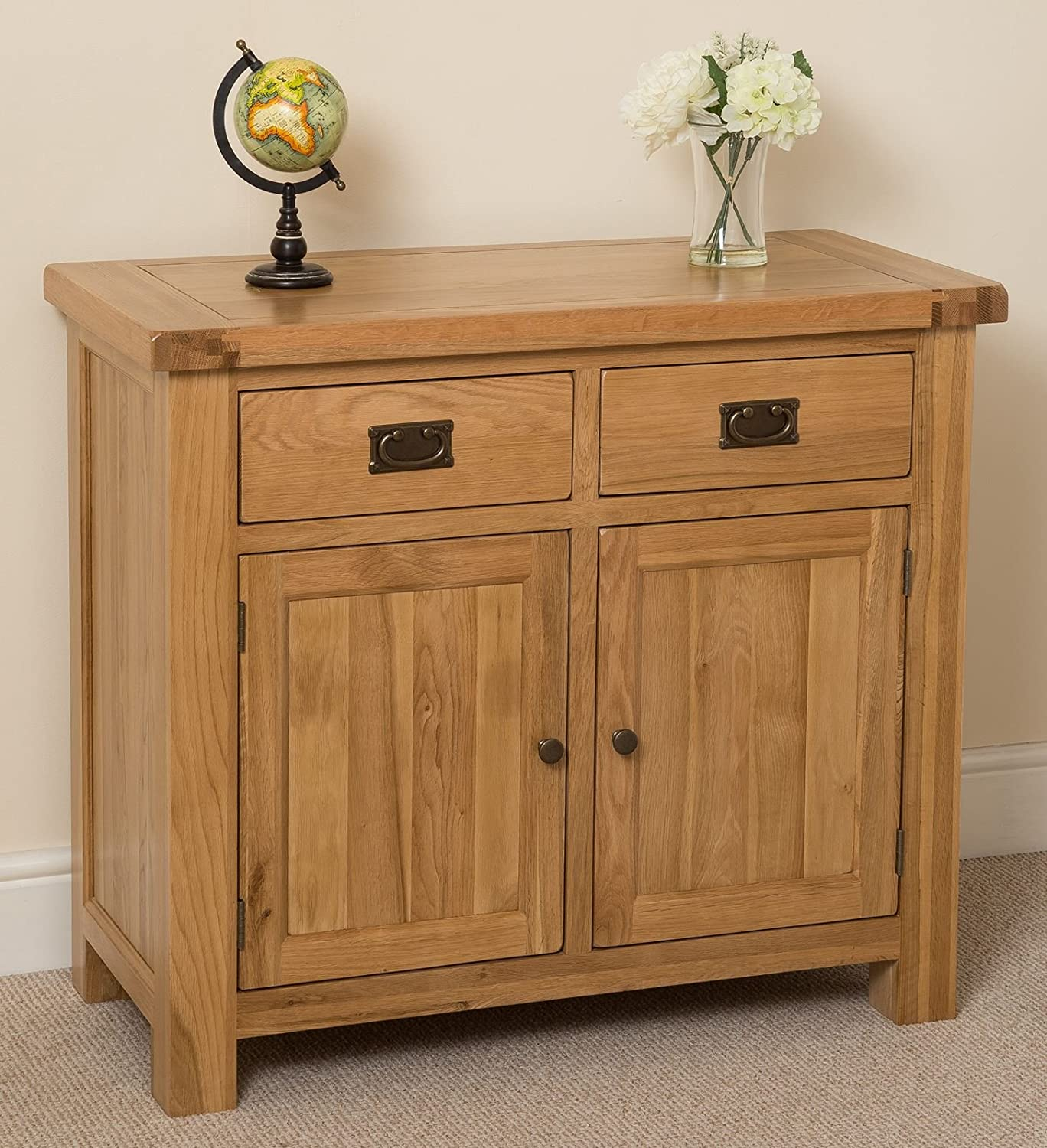 Ordinaire Cottage Solid Oak Small Sideboard Cabinet, 98 X 47 X 86 Cm: Amazon.co.uk:  Kitchen U0026 Home
