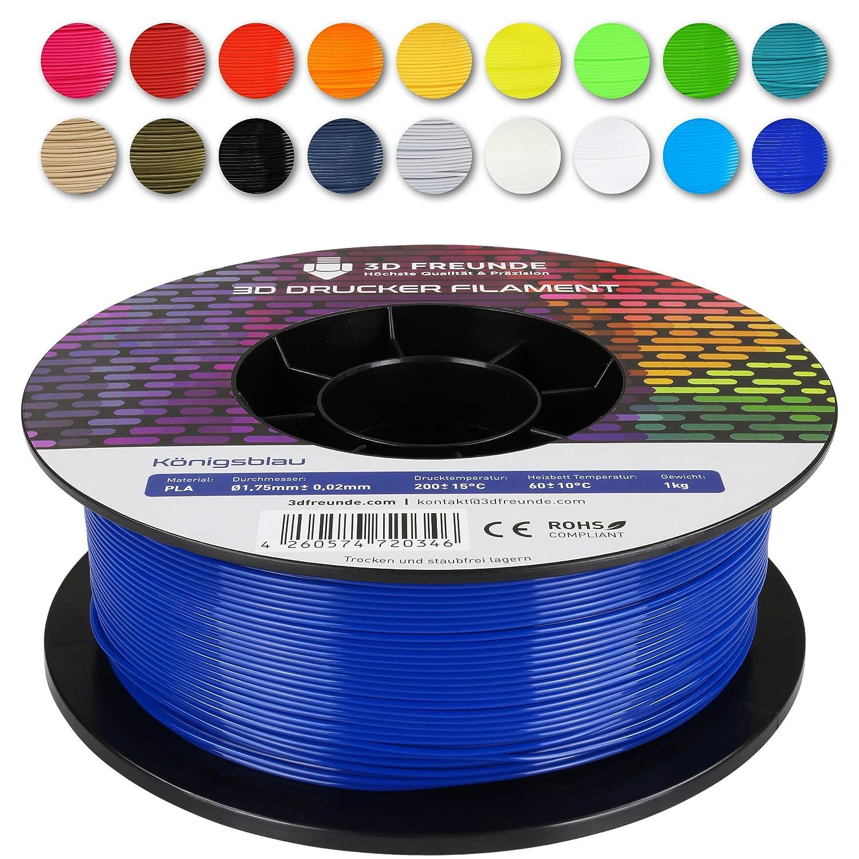 Anthrazit 3D FREUNDE Filament aus PLA 1,75 mm 1kg Rolle f/ür 3D Drucker oder Stift