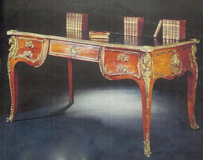 Barroco escritorio estilo envejecido 200 x 110 Skai beige Luis XV ...