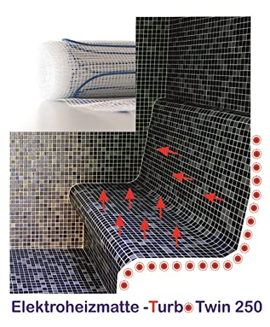 Turb otwin – Alfombra calentadora para bancos de calor y calor Liegen, dimensiones: 75