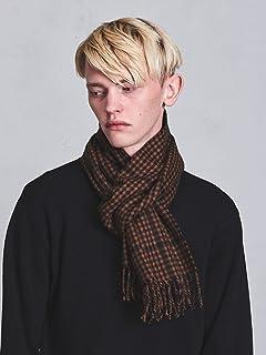 Wool Angora Scarf Gingham 1336-499-3404: Mocha