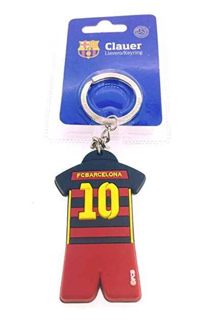 Gemelolandia Llavero Fútbol Club Barcelona Camiseta Número 10 Producto Oficial