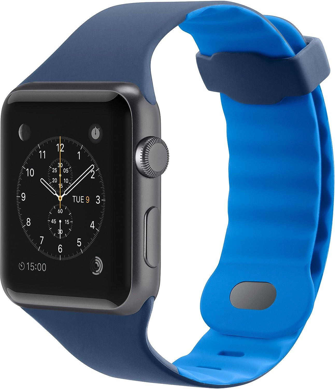 Belkin F8W729btC02 Sport Band for Apple Watch Series 4, 3, 2, 1, /40 mm, Blue, 38 mm Pack