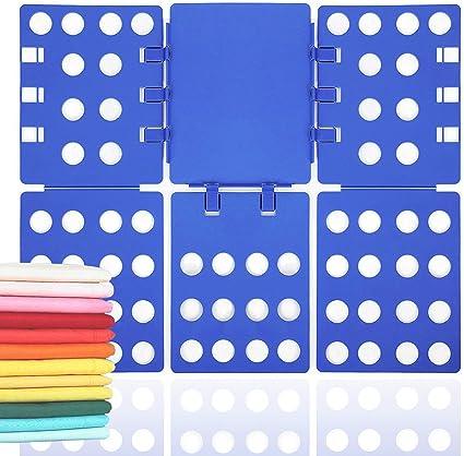 Fypo Doblador de Ropa Doblador de Camisetas Plástico Tabla para Doblar Vestidos Pantalones Azul 70 * 57.5 cm