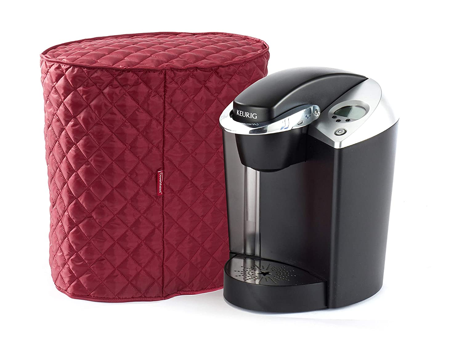 CoverMates – Coffee Maker Cover – 15W x 10D x 15H – Diamond Collection – 2 YR Warranty – Year Around Protection - Red