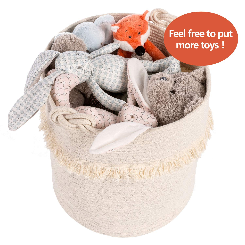 Amazon.com: Cestas de almacenamiento de tejido grande ...
