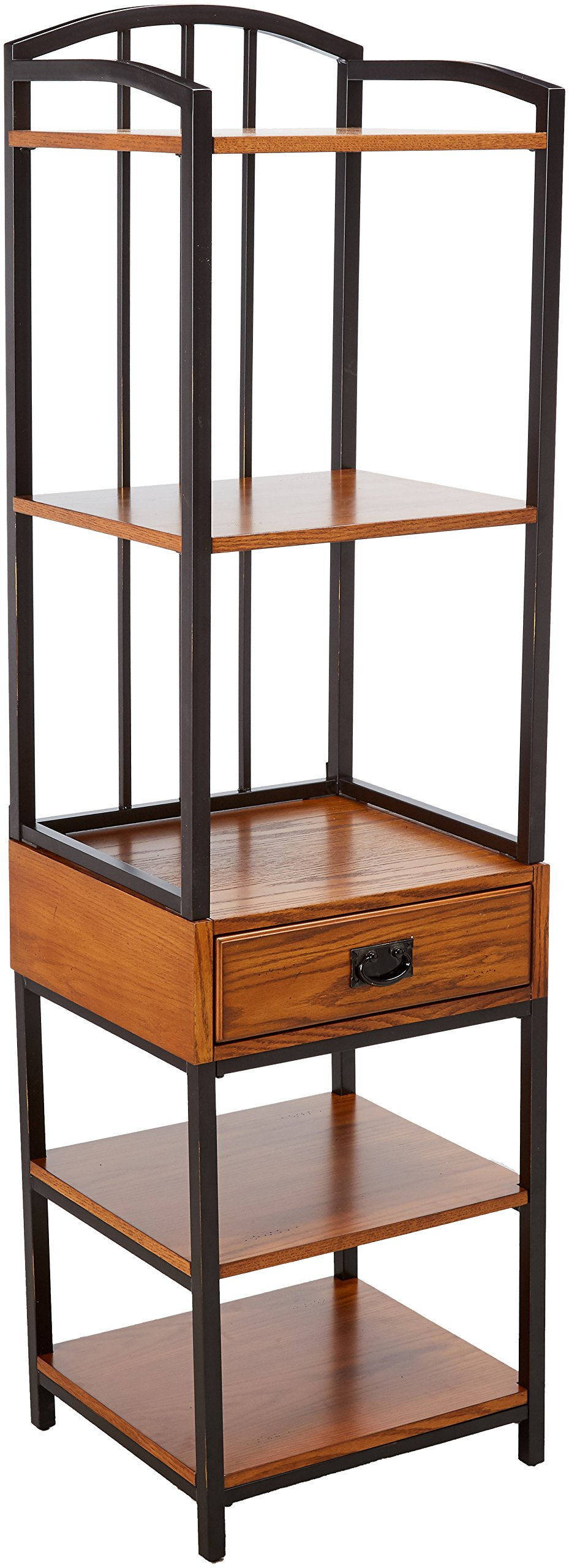 Modern Craftsman Distressed Oak Gaming Tower by Home Styles by Home Styles