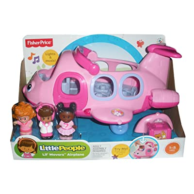 Little People Lil' Movers Pink Airplane: Toys & Games
