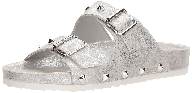 Dirty Laundry Women's Quinn Slide Sandal B077Z99QFC 5.5 B(M) US|Silver Shimmer