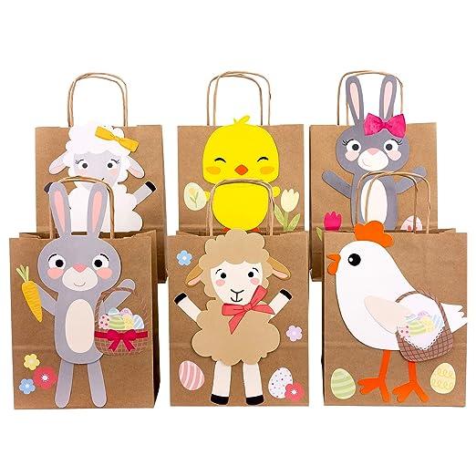 Papierdrachen Bolsas de Regalo DIY Pascua con Conejos ovejas ...