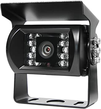 Commercial Backup Camera with Infra-red Night Vision and RCA Connectors for RVs Trailers Trucks Rear View Safety Buses and Commercial Vehicles RVS-771