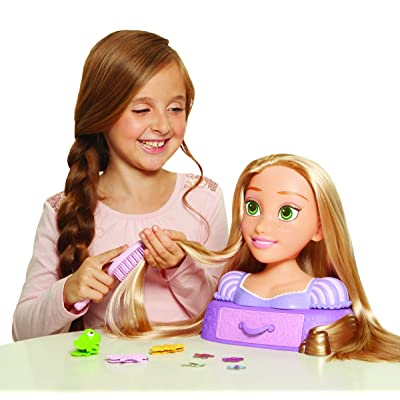 Disney Tangled Magic Hair Rapunzel Styling Head Toy: Toys & Games