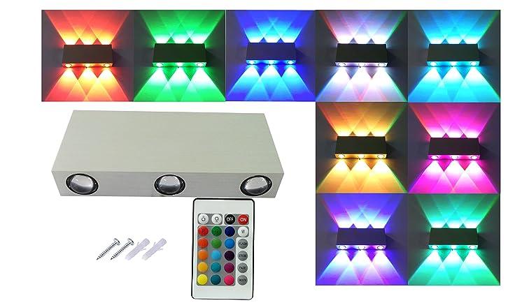 hlt rgb bunte led lampe wandbeleuchtung wandleuchte flurlampe wandlampe wandleuchten moderne designerleuchte mit fernbedienung 18w - Bunte Led Lampen