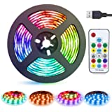 LED Strip Lights USB Powered abtong Rainbow Color LED Lights Strip LED TV Backlight Strip with RF Remote Color Changing Strip