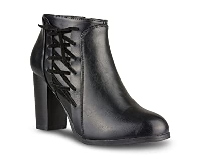 Women's Carol Faux Leather High Heeled Bootie
