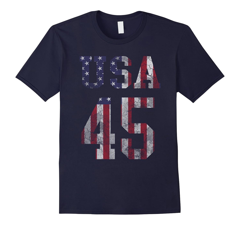 Patriotic USA 45 President Trump T Shirt-Art