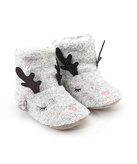 HUNKEMÖLLER Damen Pantoffeln Fake Fur Deer