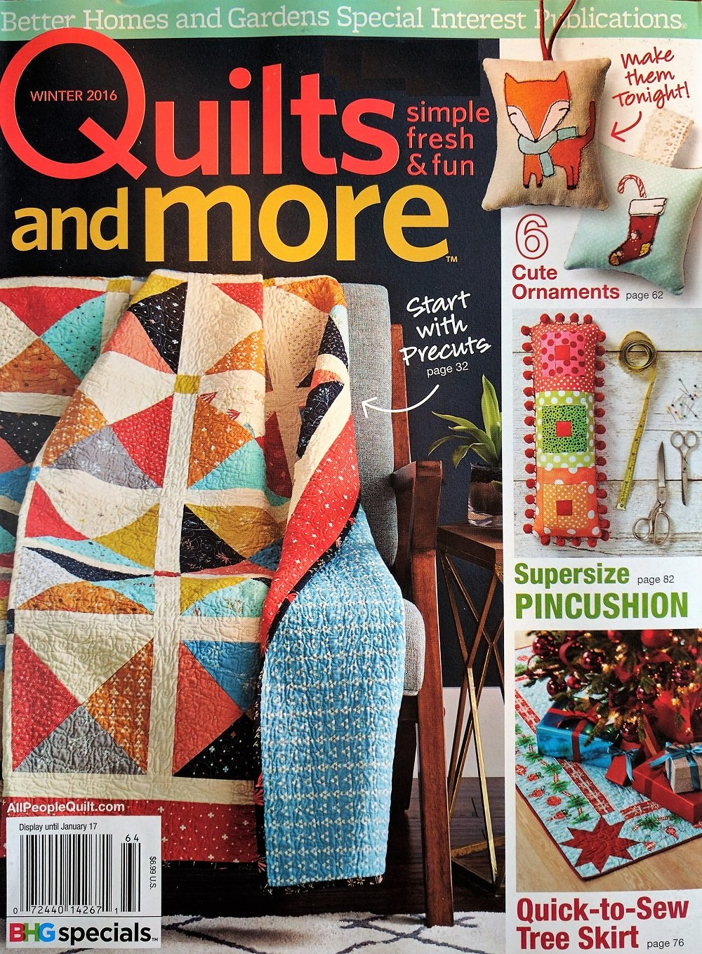 Quilts and More Magazine (Winter 2016 Issue - Start with Precuts, Christmas Ornaments, Pincushion & More) ebook