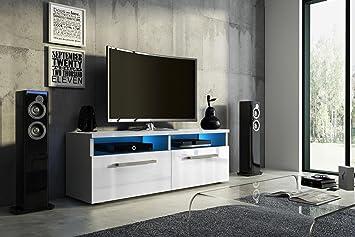 Vivaldi bonn mobile tv design bianco opaco con bianco lucido