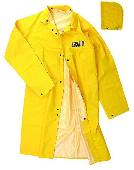 Full-Length Yellow Raincoats 100% PVC, Security ID at Amazon Men's ...