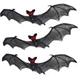Prextex Halloween Décor Set of 3 Realistic Looking Spooky Nylon Hanging Bats for Best Halloween Decoration