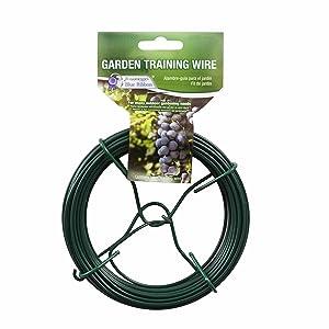 Gardener's Blue Ribbon T025B Garden Training Wire Roll, 50'