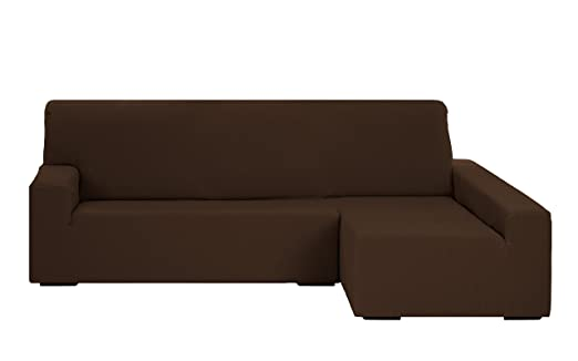 Martina Home Funda para sofa Chaise Longue modelo Emilia - Brazo derecho, color Marrón