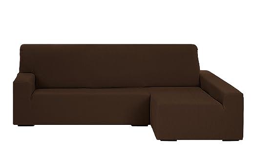 Martina Home Funda para sofa Chaise Longue modelo Emilia - Brazo derecho, color Marrón