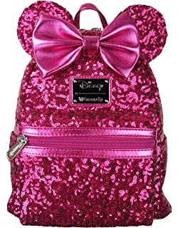 Loungefly x Disney Minnie Mouse Pink Sequin Mini Backpack