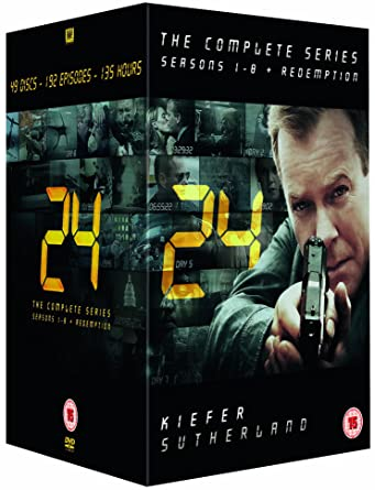 24 - Complete Season 1-8 + Redemption New Packaging DVD