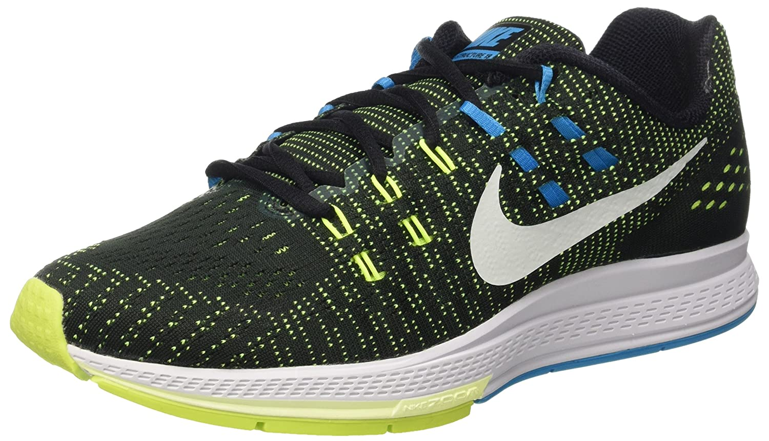 NIKE Mens Air Zoom Structure 19 Running Shoes B015T0AKI2 10 D(M) US|Black/Volt/Blue Lagoon/White