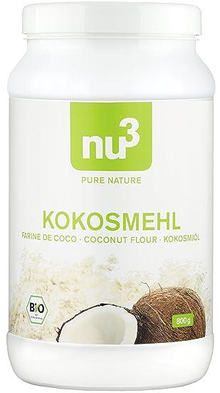 nu3 | Harina de coco orgánica | 800g | alto contenido en fibras alimentarias | alternativa