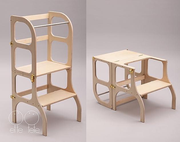 little helper tower table chair all in one montessori learning rh amazon ca little helper funpod step stool kitchen helper