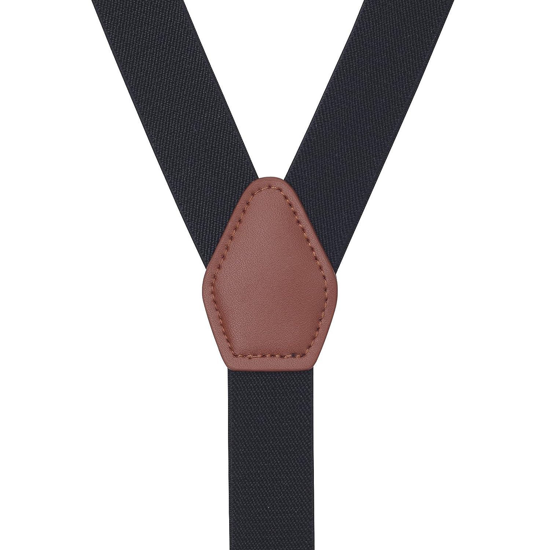 Irypulse Conjunto Tirantes y Pajarita Para Hombre Adolescentes con 3 Clips Retro Y-Forma Chic Longitud Ajustable El/ástico Para Altura 150-180 cm