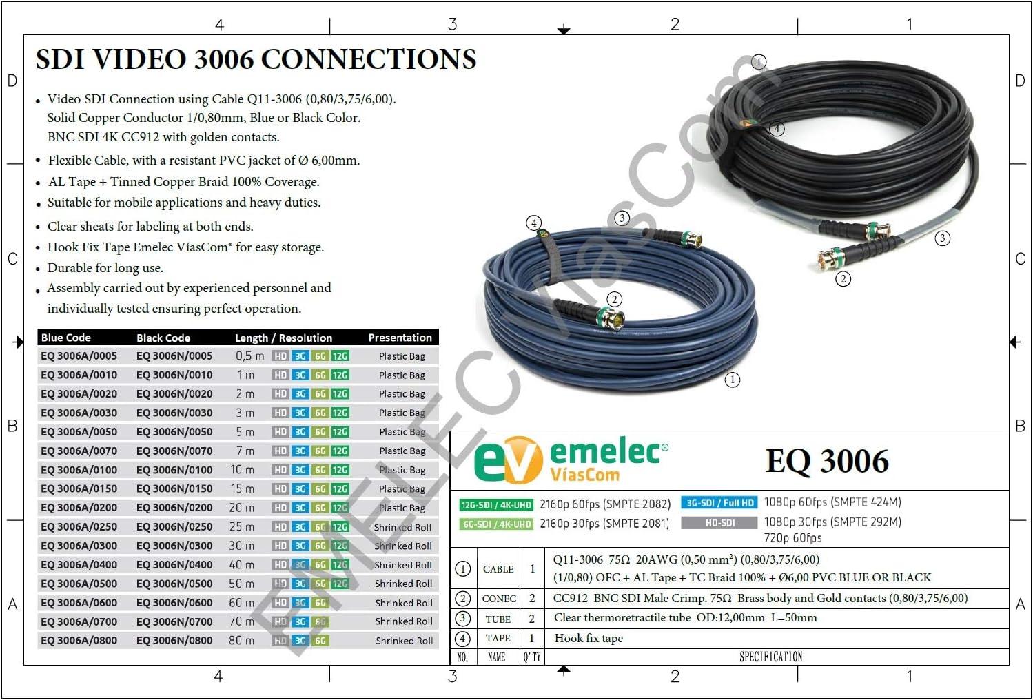 Emelec Víascom Eq3006a 0150 15 0m Videoverbindung Elektronik