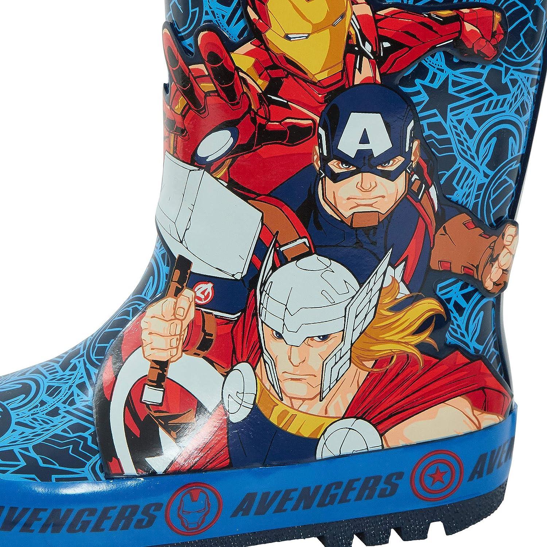 Marvel Avengers Bottes de pluie en caoutchouc 2D pour enfants Super Hero