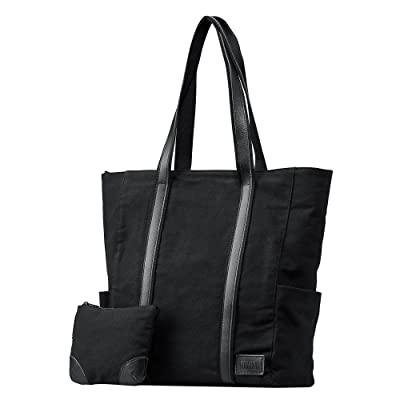 Womens Laptop Computer Bag 15.6 inch - Large Canvas Totes for Travel, Work, Business, Office,School, Teacher and Everyday Use