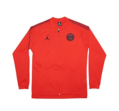 bf356462a18d Men s Official 2018-2019 Paris Saint Germain PSG Jordan Edition Jacket  AQ0964-657 Red