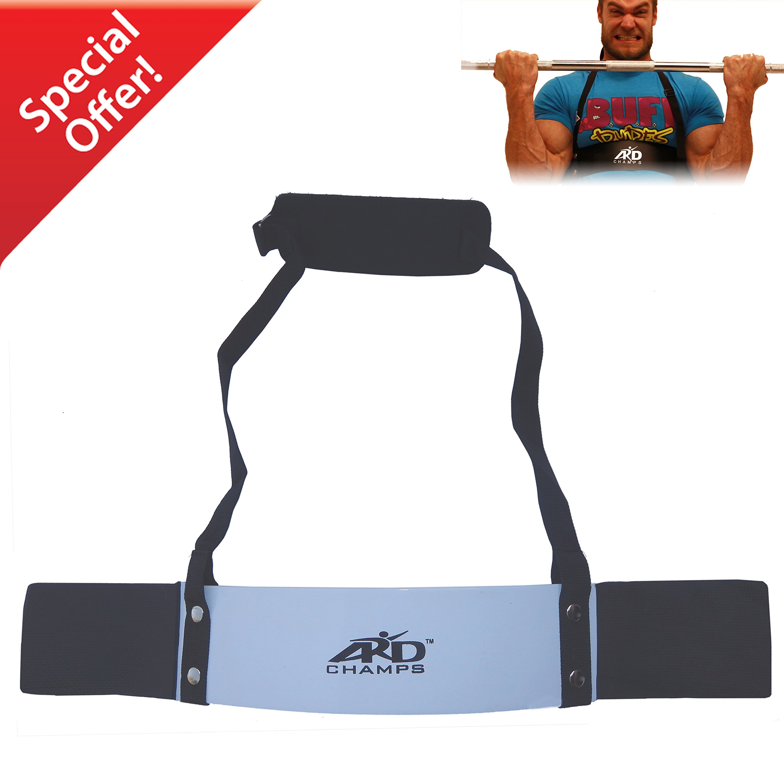 ARD-Champs Heavy Duty Arm Blaster Body Building Bomber Bicep Curl Triceps White New