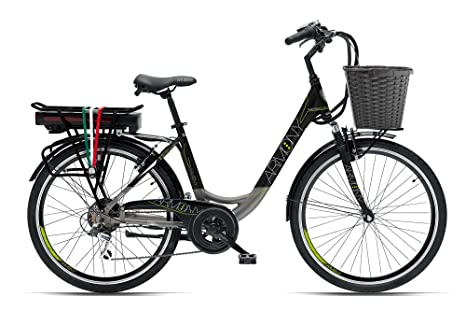 Armony Bici Elettrica Firenze Advance Nero Grigio Amazonit