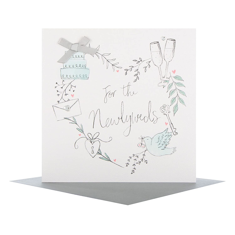 tama/ño mediano Hallmark 25489048 Tarjeta de felicitaci/ón de boda para reci/én casados