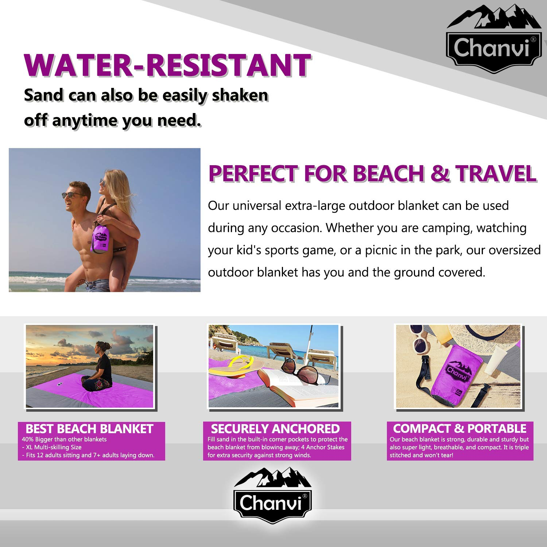 Amazon.com: Chanvi - Manta de playa grande y práctica ...