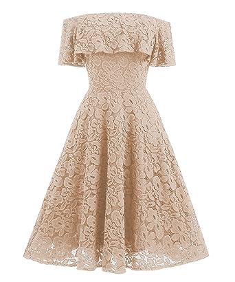 Abiti Da Sera Anni 50.Saoye Fashion Abito Cerimonia Donna Anni 50 Vintage Pizzo